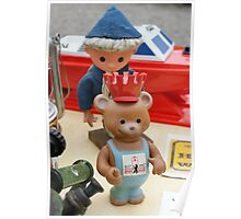 Sandman and Teddy Bear from East Germany `DDR` Poster