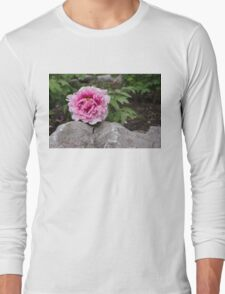 Peony on the Rocks - the Marvels of Spring Long Sleeve T-Shirt