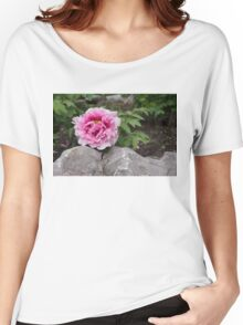 Peony on the Rocks - the Marvels of Spring Women's Relaxed Fit T-Shirt