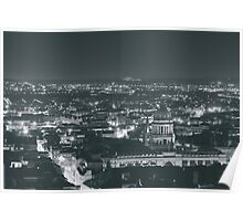 Views from the Nottz (black and white) Poster