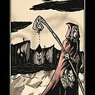 The Hermit - Sinking Wasteland Tarot by JamesGrimlee