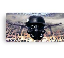 Victimal Horsemen Of Black Helmets Canvas Print