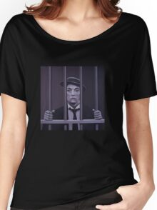 Buster Keaton Painting Women's Relaxed Fit T-Shirt