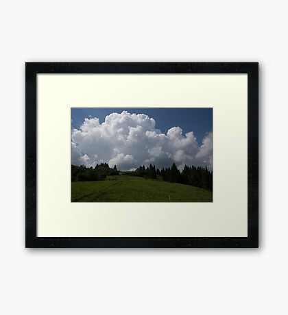 A Little Road to the Clouds Framed Print