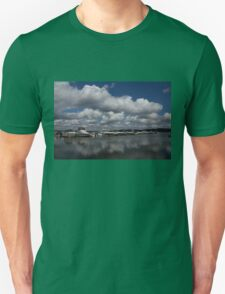 Reflecting on Boats and Clouds - Port Perry Marina Unisex T-Shirt