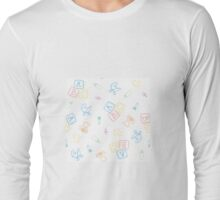 Baby Symbols Scribble - White Chalkboard Long Sleeve T-Shirt
