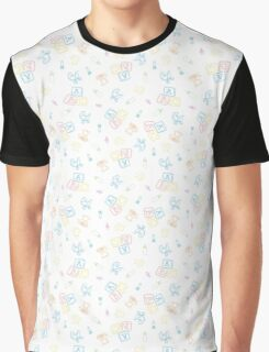 Baby Symbols Scribble - White Chalkboard Graphic T-Shirt