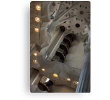 Shapes and Spirals - The Fascinating Interior of Antoni Gaudi's Sagrada Família Canvas Print
