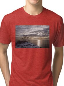 Lakeside Silver – Winter Morning Light Tri-blend T-Shirt