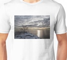 Lakeside Silver – Winter Morning Light Unisex T-Shirt