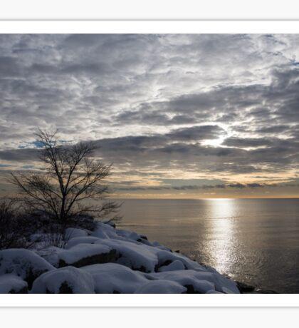 Lakeside Silver – Winter Morning Light Sticker