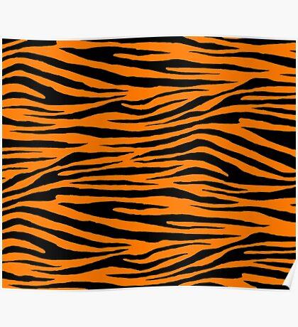 0606 Safety Orange Tiger Poster