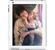 portrait of father and child iPad Case/Skin