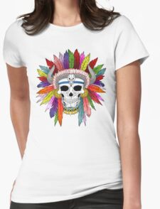 Shamanistic skull Womens Fitted T-Shirt