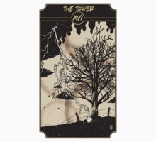 The Tower - Sinking Wasteland Tarot One Piece - Short Sleeve