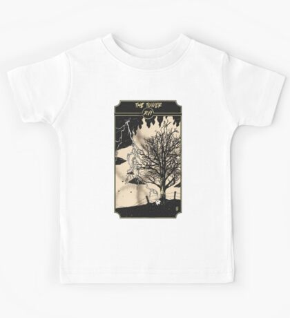 The Tower - Sinking Wasteland Tarot Kids Tee