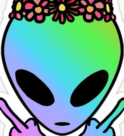 Unfriendly Alien Sticker