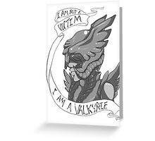 I Am Not A Victim - I Am A Valkyrie Greeting Card
