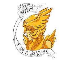 I Am Not A Victim - I Am A Valkyrie (Gold) Photographic Print