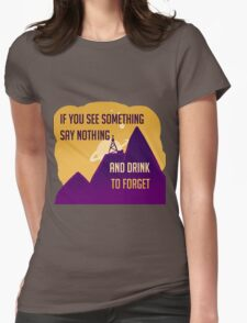 Welcome To Night Vale -Drink to Forget  Womens Fitted T-Shirt