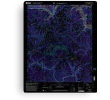 USGS TOPO Map Alabama AL Sunlight 305137 2000 24000 Inverted Canvas Print