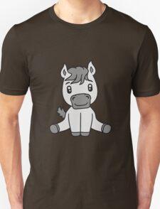 sweet cute sitting comic cartoon pony horse pferdchen kawaii child girl baby foal T-Shirt
