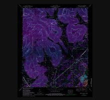USGS TOPO Map Alabama doran cove al-tn histmap Inverted Unisex T-Shirt