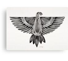 Black Parrot Canvas Print