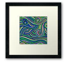 Hallyu waves - Psychedelic blue  Framed Print