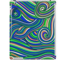 Hallyu waves - Psychedelic blue  iPad Case/Skin
