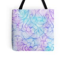 Blue and Purple Swirls Tote Bag