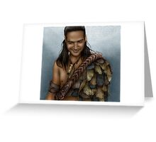 Nasir's Sneaky Smile (Nagron, Spartacus) Colorized Version Greeting Card