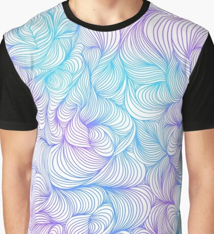 Blue and Purple Swirls Graphic T-Shirt