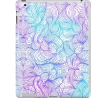 Blue and Purple Swirls iPad Case/Skin
