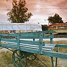 Baggage Cart, OERM, Perris CA by Larry Costales