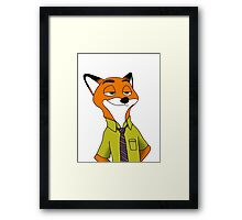 2D Nick Wilde from Zootopia Framed Print