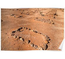 Outback Cementery - Coober Pedy Poster