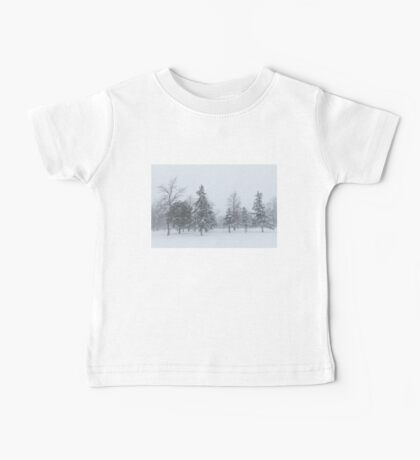 Snowstorm - Tall Trees and Whispering Snowflakes Baby Tee