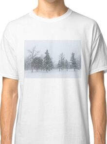 Snowstorm - Tall Trees and Whispering Snowflakes Classic T-Shirt