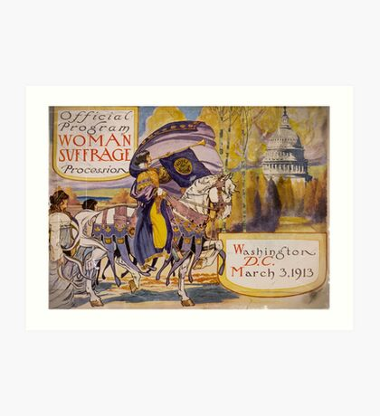 Washington DC Suffrage Procession 1913 Art Print