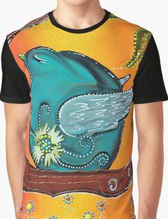 Garden Bird Graphic T-Shirt