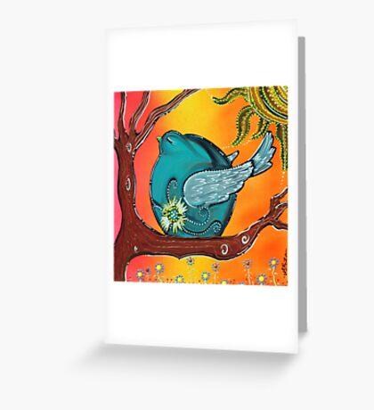 Garden Bird Greeting Card