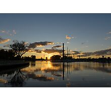 Fire in the Sky - Skyscrapers and the Beaches Marina Photographic Print