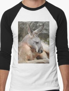 Red Kangaroo Men's Baseball ¾ T-Shirt