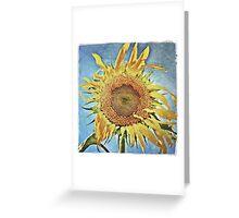mom's sunflower Greeting Card