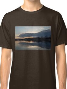 Just Before Sunset - Gray Clouds and Ripples  Classic T-Shirt