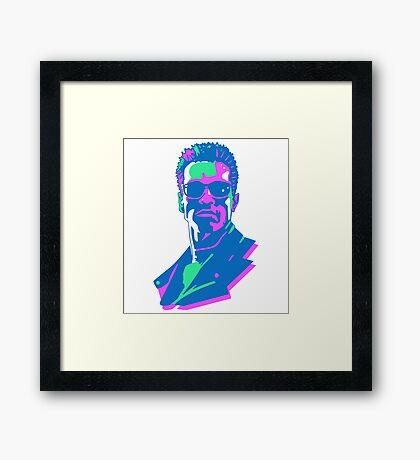 Retro 80s Terminator Framed Print