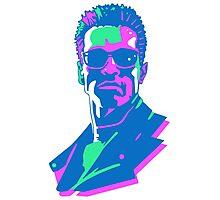 Retro 80s Terminator Photographic Print