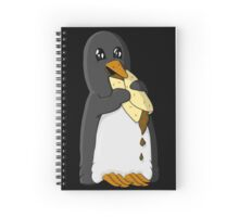 Penguin eating a burrito Spiral Notebook