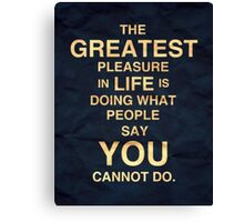 Inspiration to do better Canvas Print